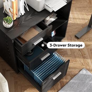 DEVAISE 3-Drawer Wood File Cabinet