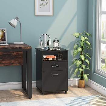 Tribesigns 2 Drawer Mobile File Cabinet